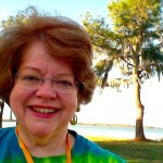 Enjoying the February weather at the Florida Christian Writers Conference.