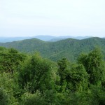 The vista from the top of the Blue Ridge Mountains.